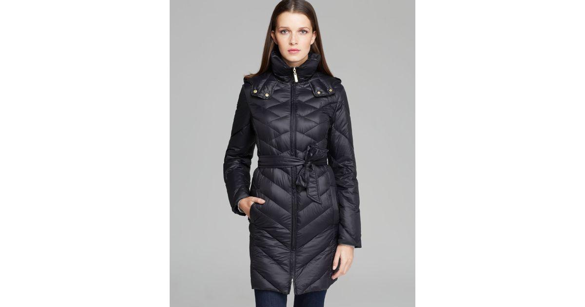 139135c3bea Ellen Tracy Black Down Coat Belted Packable