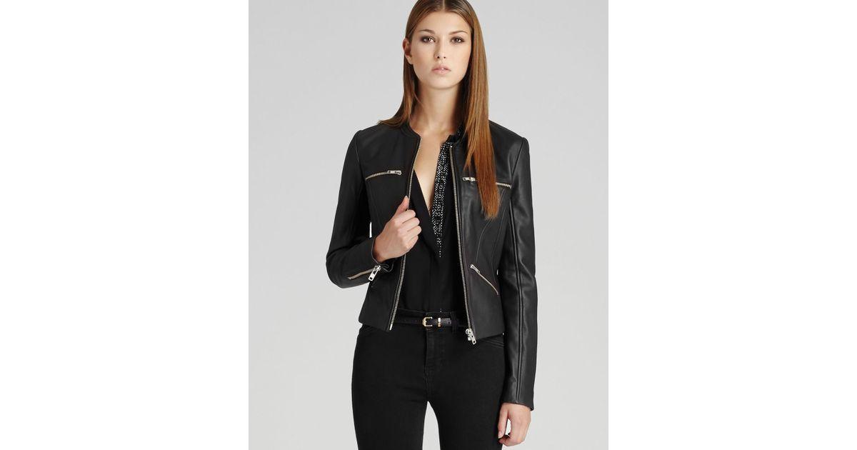 e84aa69150db Reiss Leather Jacket Opal in Black - Lyst