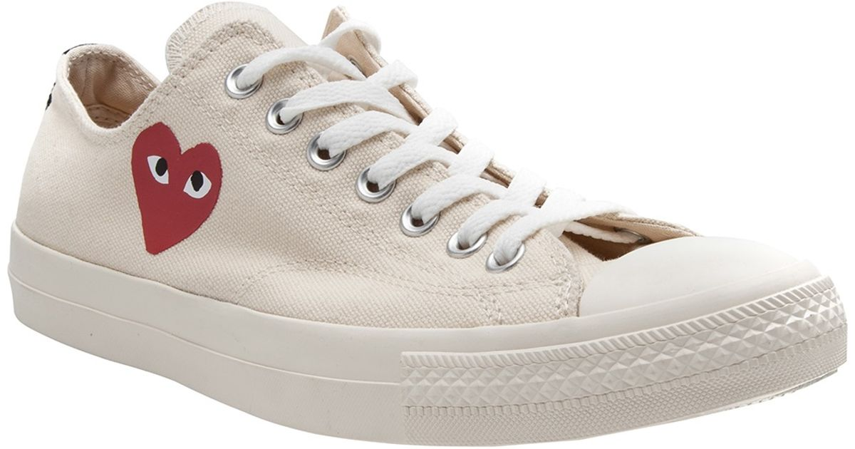 Ejecución Hospitalidad Dispersión  Play Comme des Garçons Low Top Sneaker in White (Natural) for Men - Lyst