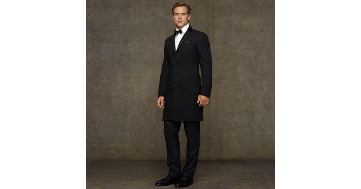 Coat Men Paddock Ralph For Polo Black Lauren Wool oCxeWrdB