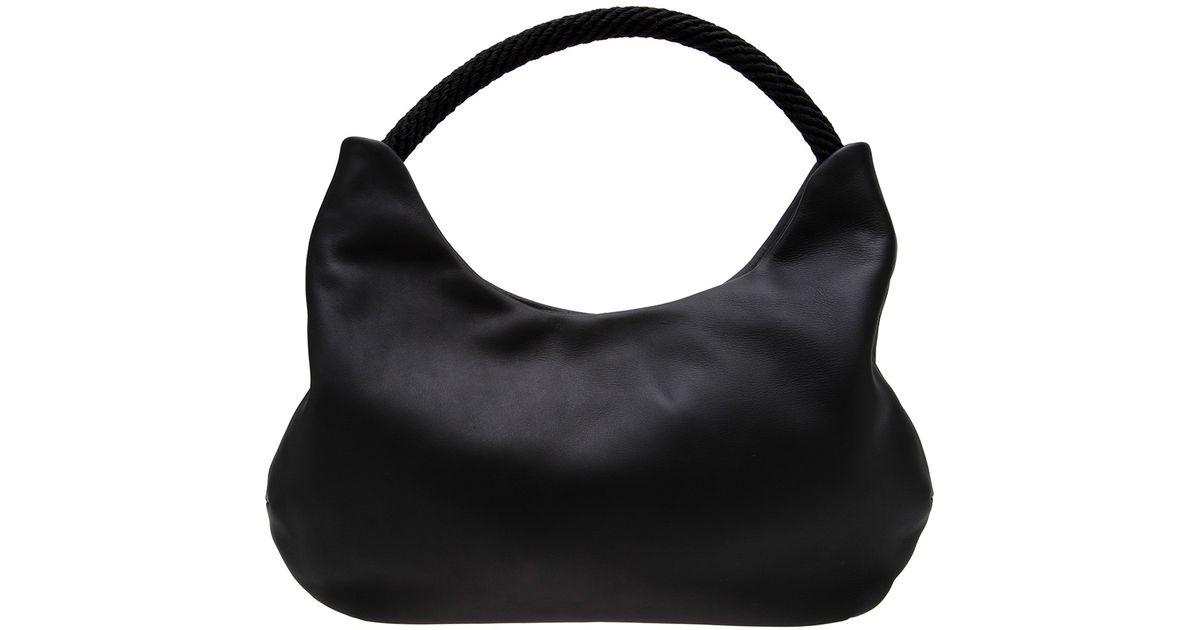 Leather Fausto Black Bag Santini Nappa SUMGzqVp