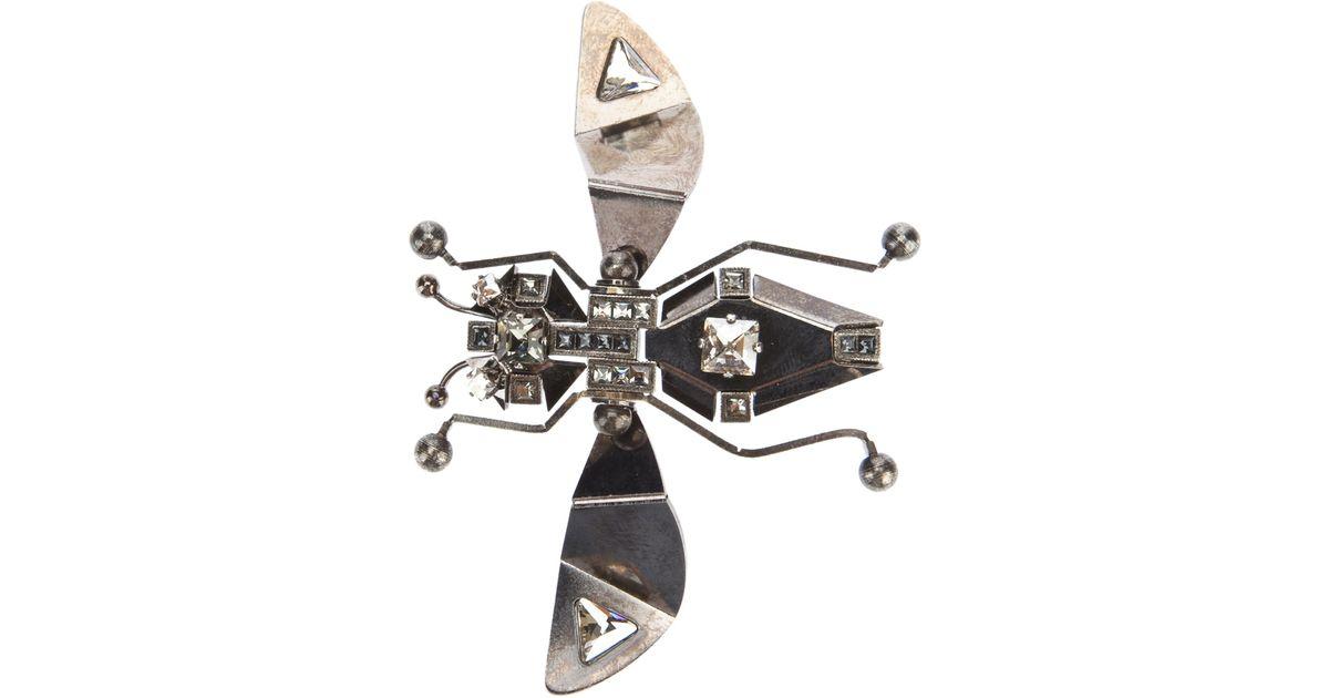 Lanvin Metallic Bug Brooch
