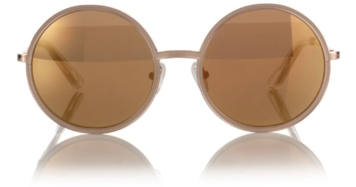 Copper Sunglasses  surface to air copper salome round sunglasses in metallic lyst