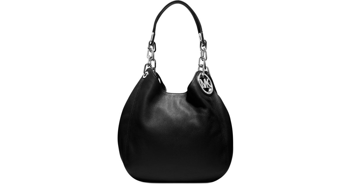 f6c065ceea80 Michael Kors Fulton Medium Shoulder Bag in Black - Lyst