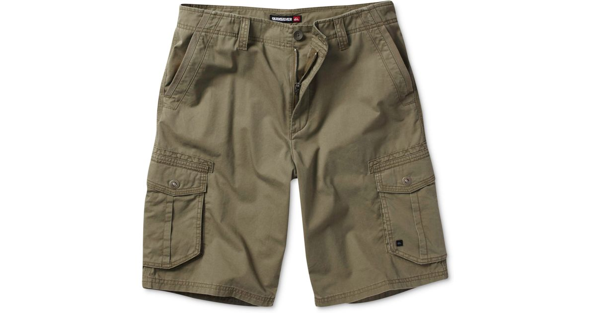 33b2a6272a Quiksilver Deluxe Cargo Shorts in Green for Men - Lyst