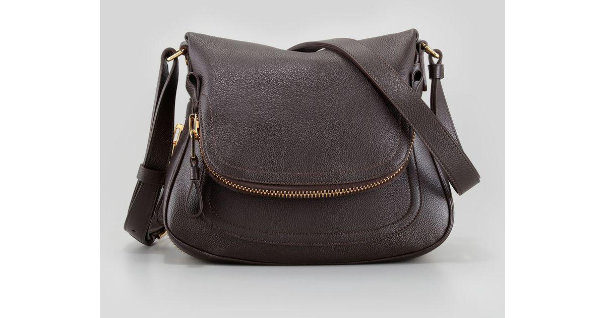 caba35867 Tom Ford Jennifer Small Calfskin Crossbody Bag Brown in Black - Lyst