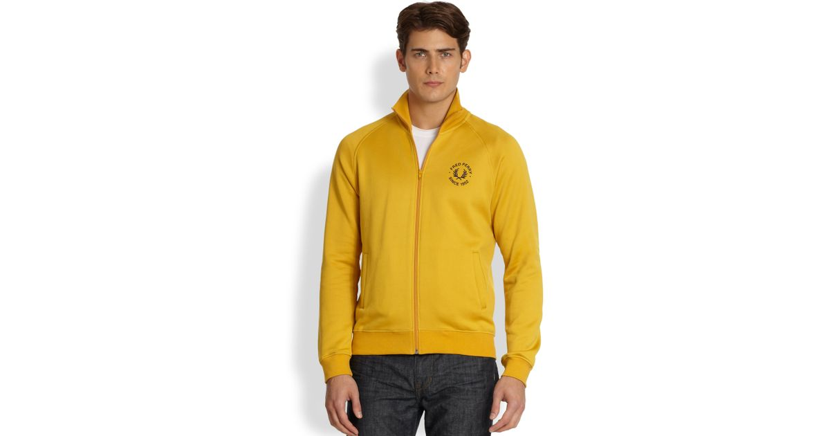 annorlunda grossistpris professionell försäljning Fred Perry Track Jacket in Mustard (Yellow) for Men - Lyst