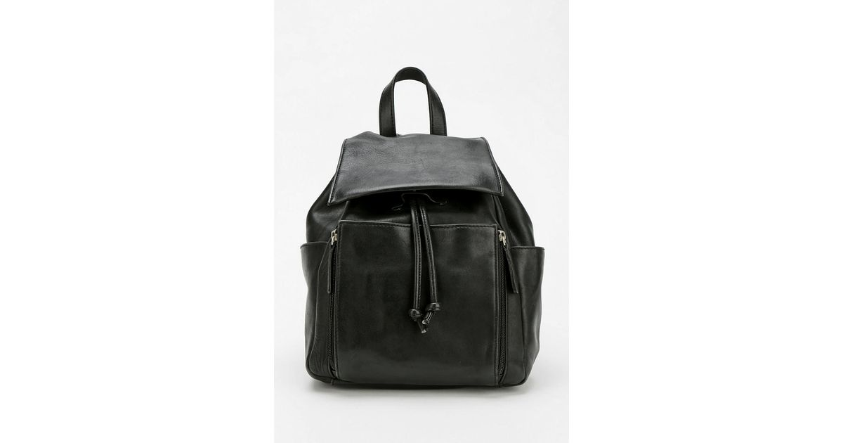 5443cf2200c Urban Outfitters Black Urban Renewal Vintage Small Leather Backpack