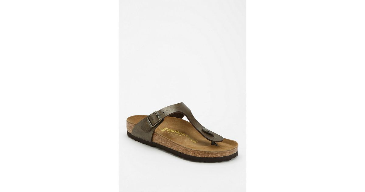 f2a1b3df4 Lyst - Urban Outfitters Birkenstock Gizeh Thong Sandal in Brown