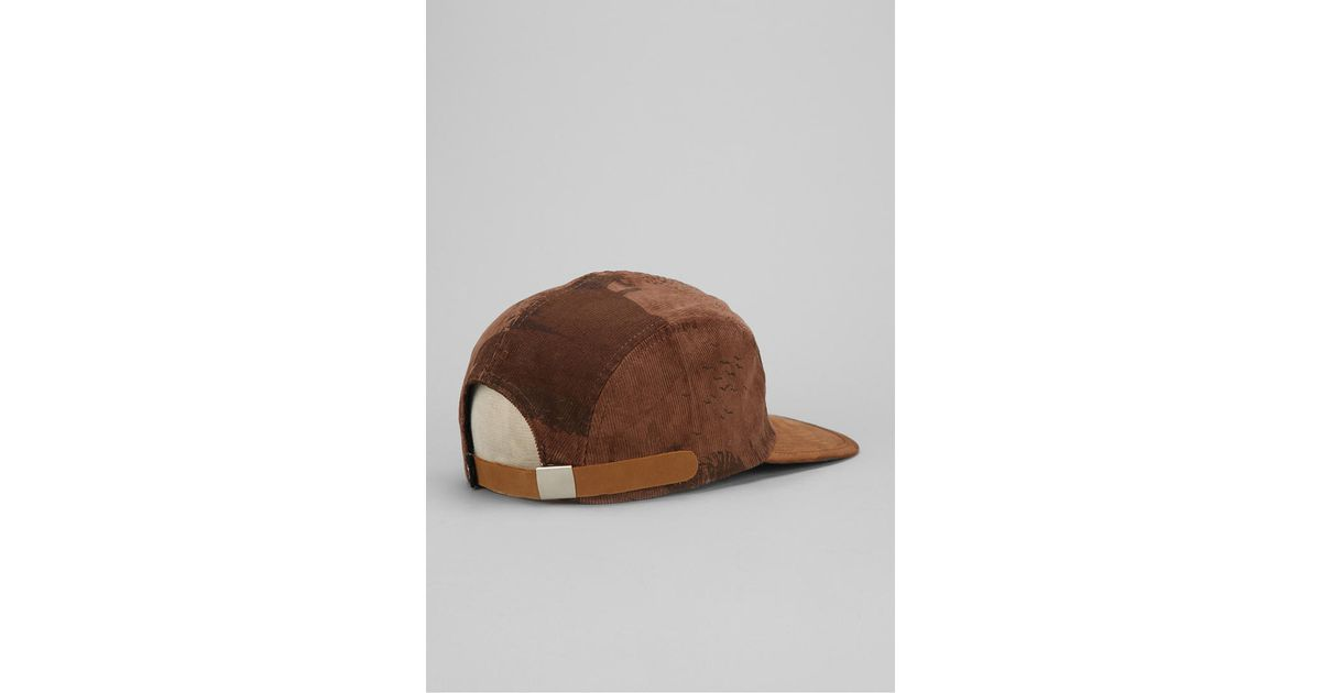 4e0771ceaac Lyst - Urban Outfitters Stussy Savannah Corduroy 5panel Hat in Brown for Men