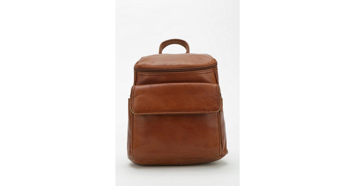 eed538001ed Urban Outfitters Brown Urban Renewal Vintage Small Leather Backpack