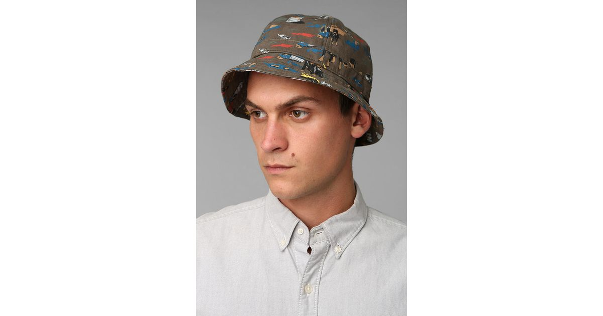d790dde30c63f Urban Outfitters Obey City Hunting Bucket Hat in Green for Men - Lyst