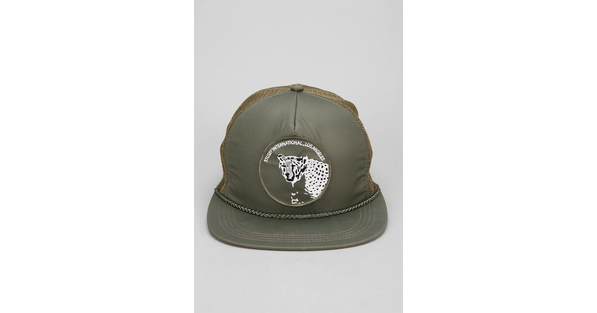 84b5f14dc14 Lyst - Urban Outfitters Stussy Animal Patch Trucker Hat in Green for Men