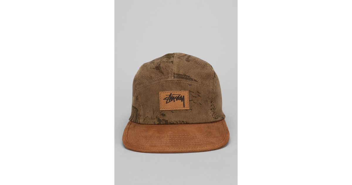 53db85303bf Lyst - Urban Outfitters Stussy Savannah Corduroy 5panel Hat in Green for Men