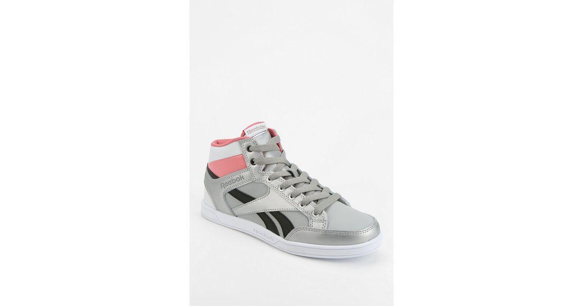 398fbbea508 Lyst - Urban Outfitters Reebok Royal Court Hightop Sneaker in Metallic