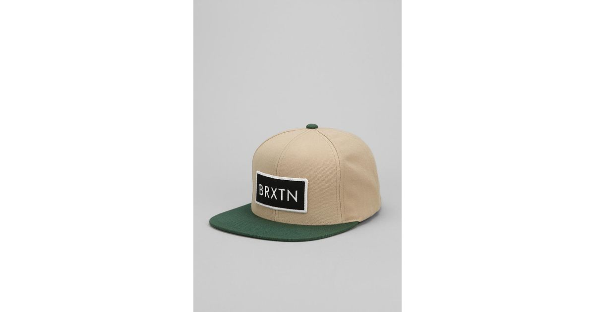 Lyst - Urban Outfitters Brixton Rift Snapback Hat in Brown for Men ae7fc1bc599c