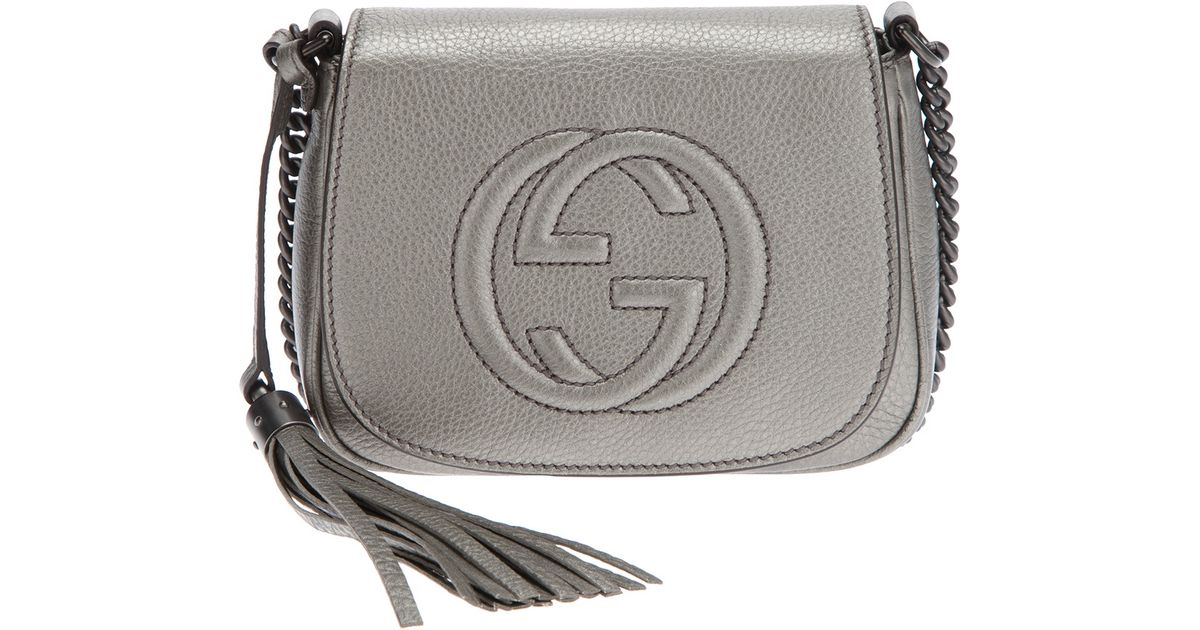 00425700329 Lyst - Gucci Small Soho Shoulder Bag in Gray