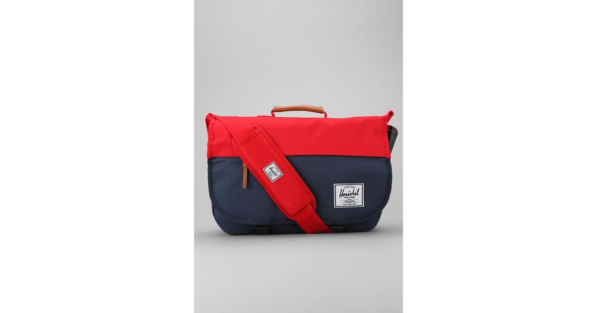adf27b95fc8d Lyst - Herschel Supply Co. Mill Messenger Bag in Red for Men