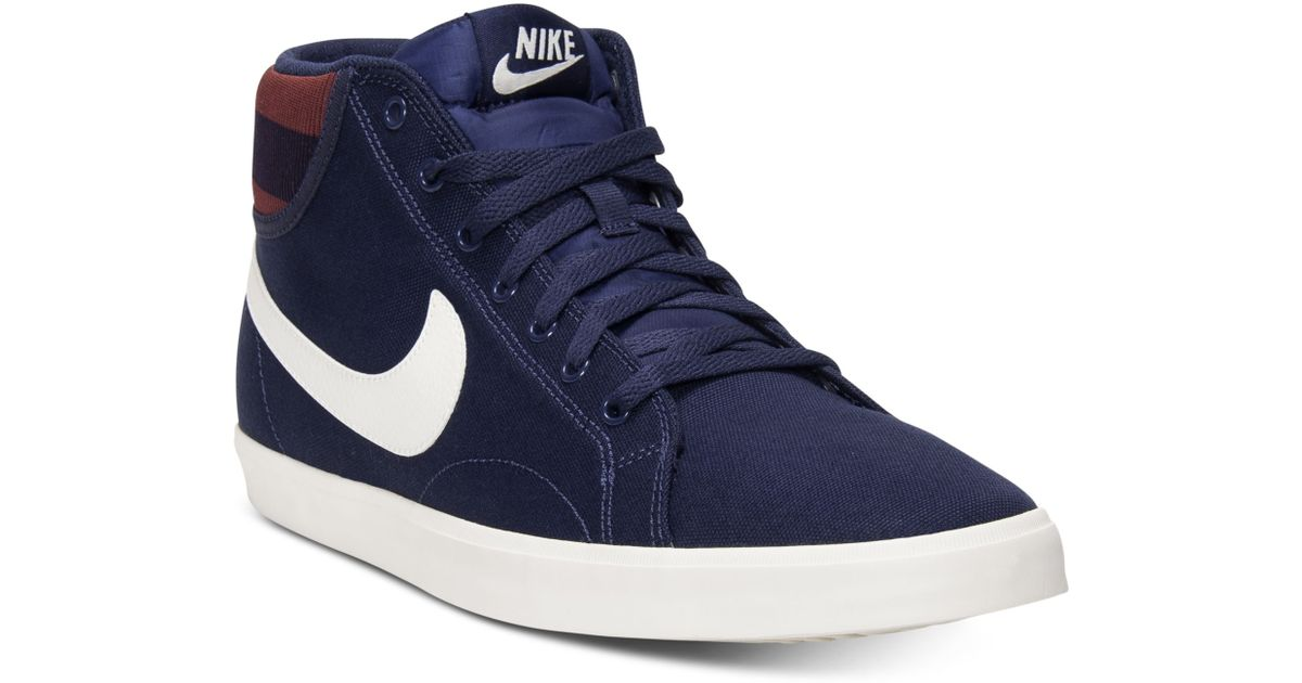 Comfortable Nike Mens Shoes White Black Mid Eastham Trainers
