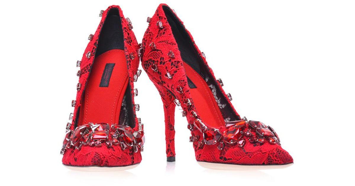 Dolce \u0026 Gabbana Belucci Lace Pumps in