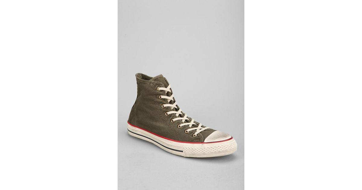 b0081f238d3c Lyst - Urban Outfitters Converse Chuck Taylor All Star Washed Hightop Mens  Sneaker in Green for Men