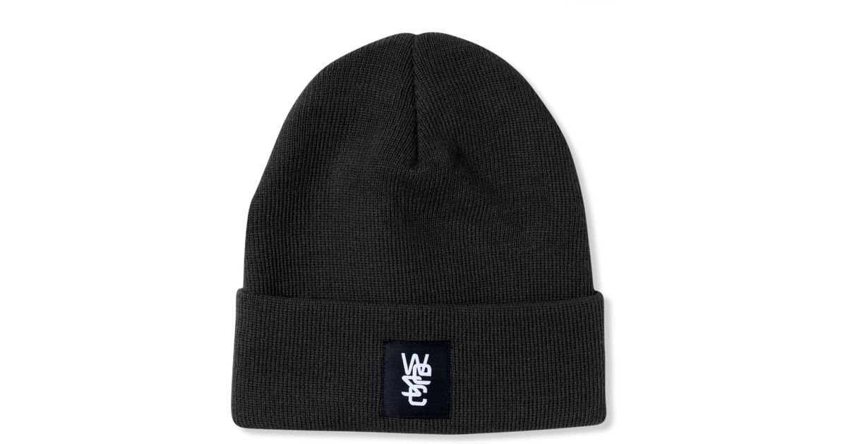 Lyst - Wesc Pancho Beanie in Black for Men 83b2a296733