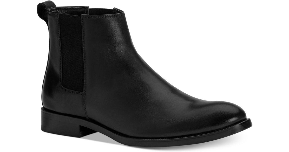 ef9789e94d0 Calvin Klein Black Cambell Chelsea Boots for men