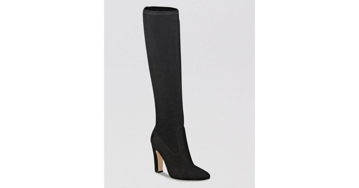 e46c361b19d Ivanka Trump Sila Tall Shaft High Heel Dress Boots in Black - Lyst