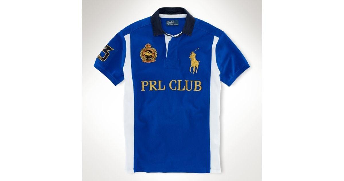 Fit Prl For Club Men Ralph Blue Lauren Custom Polo 80wPnkO