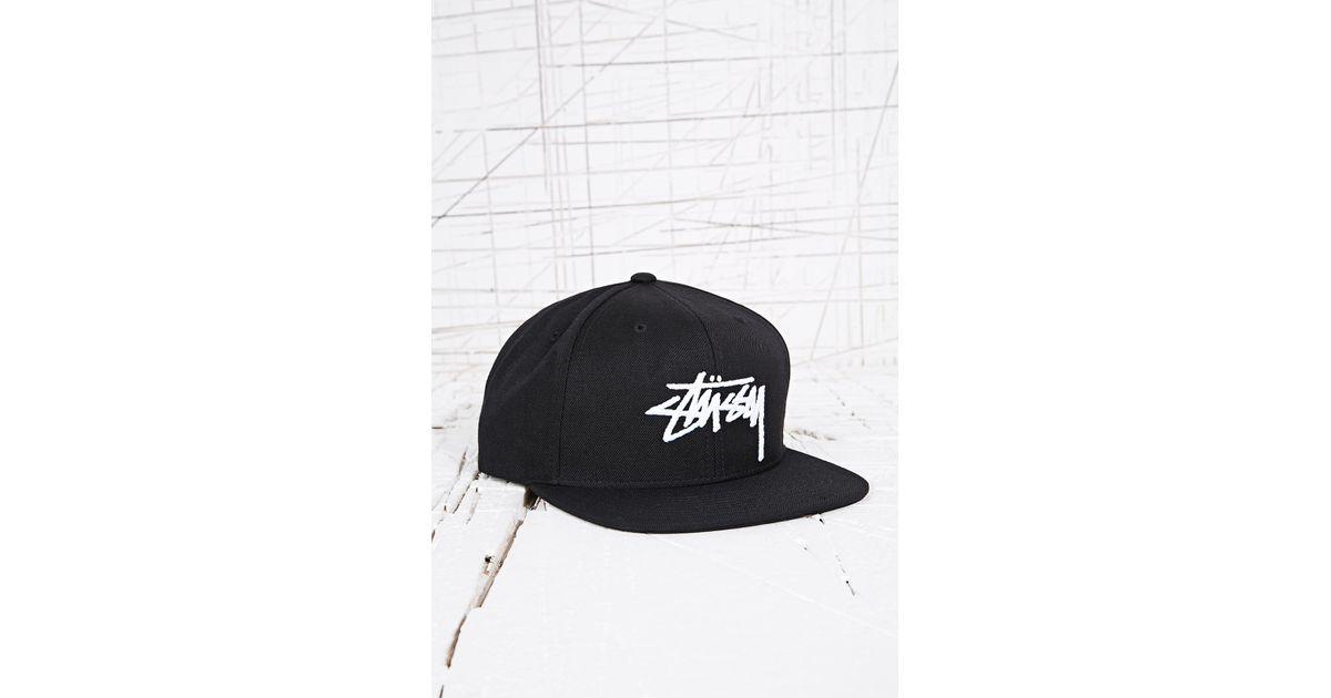 644898462647 Stussy Classic Snapback Cap in Black in Black for Men - Lyst