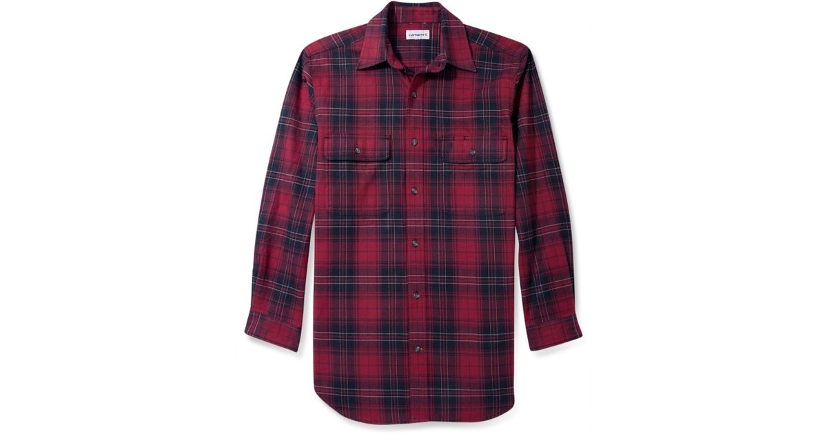 100% high quality pretty cheap on wholesale Carhartt Red Plaid Shirt for men
