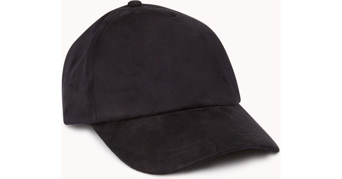 8aa597fc35c77 Forever 21 Minimalist Baseball Cap in Black - Lyst