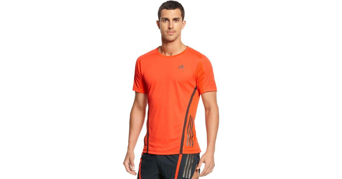 Adidas Orange Supernova Climacool Short Sleeve Running Tee for men