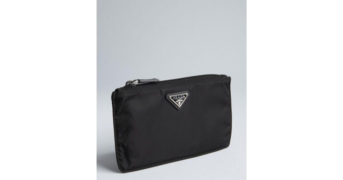 ... Lyst Prada Black Nylon Zip Flat Cosmetic Pouch In best online 199b5  4333c ... 24a870775fec9