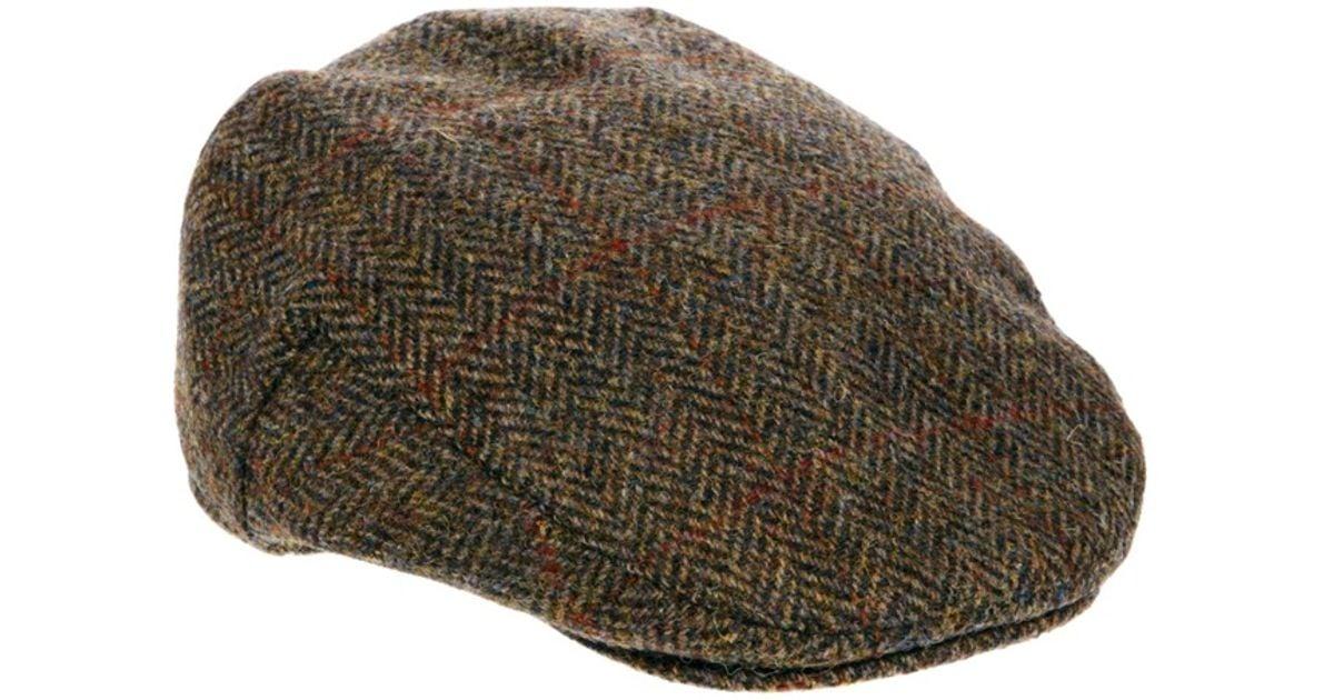 5f7999ce15 ASOS - Brown Flat Cap in Harris Tweed for Men - Lyst