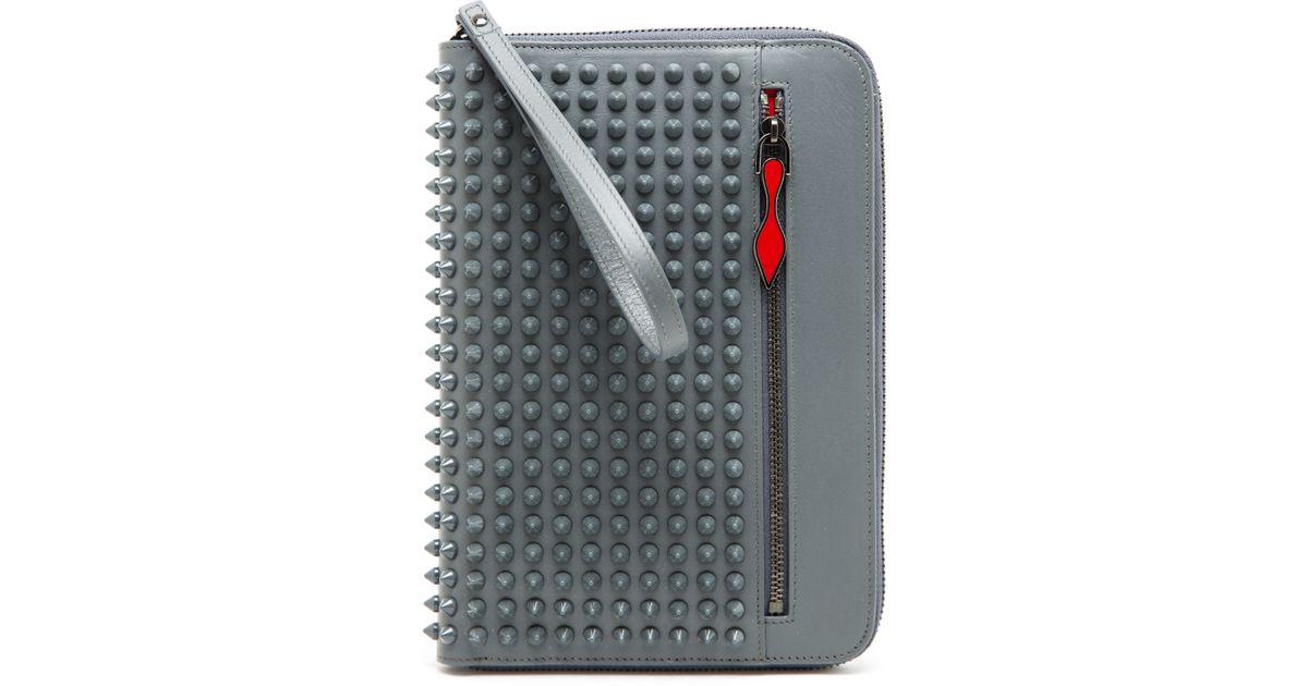 478dc614e2a Christian Louboutin Gray Cris Leather Ipad Mini Case