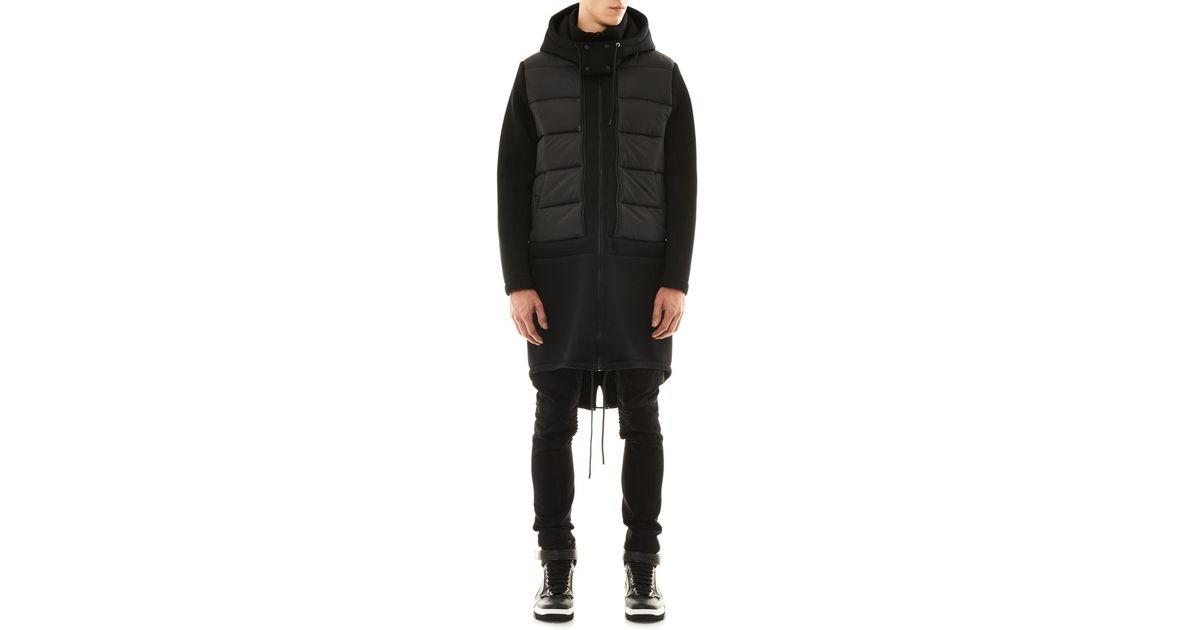 Givenchy Neoprene Combination Parka In Black For Men Lyst