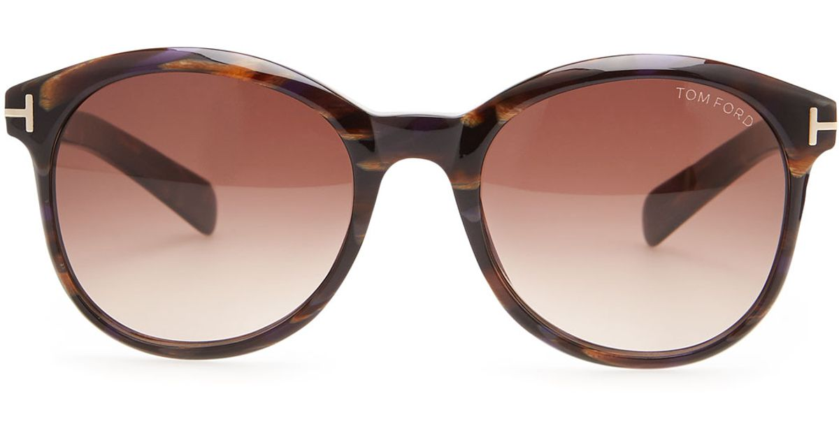 3d6798c93b Tom Ford Riley Sunglasses Brownviolet in Brown - Lyst