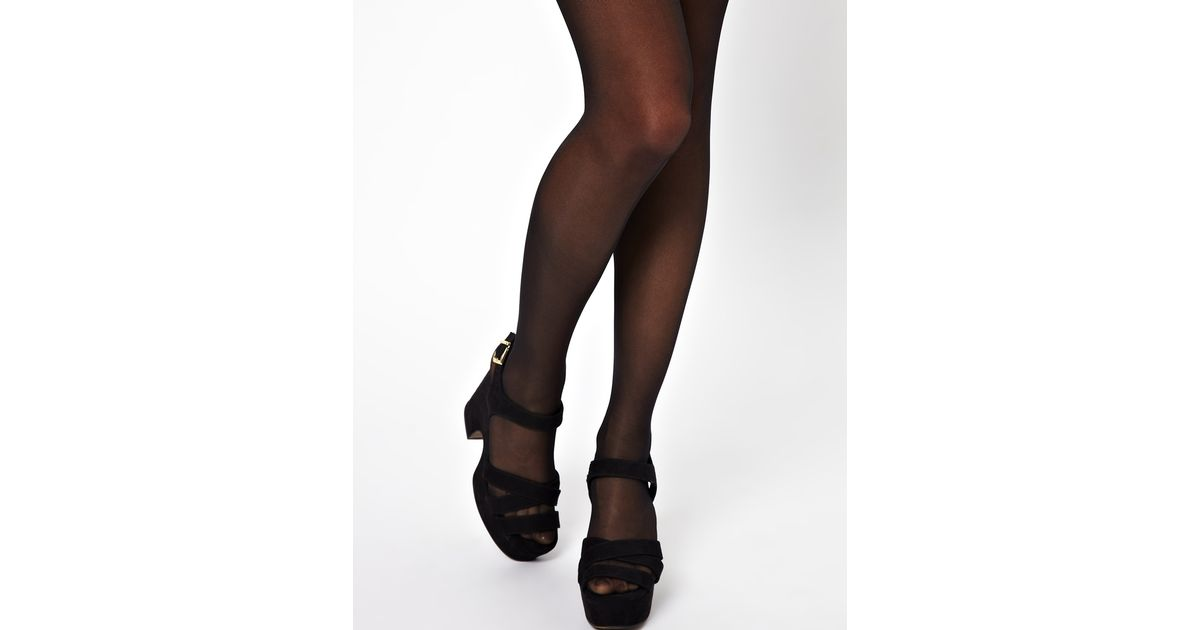 02aa47214f6ce Jonathan Aston Wolford 3 Pack Satin Touch 20 Denier Tights in Black - Lyst