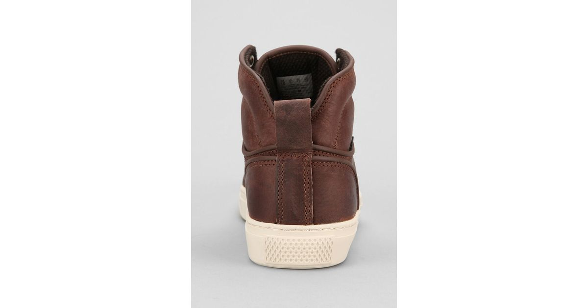 d0e85c1cd0 Lyst - Urban Outfitters Otw By Vans Alomar Hightop Mens Leather Sneaker in  Brown for Men