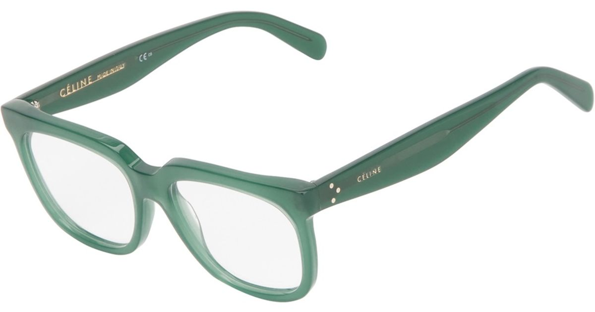 045b544635f8 Céline Square Sunglasses in Green - Lyst