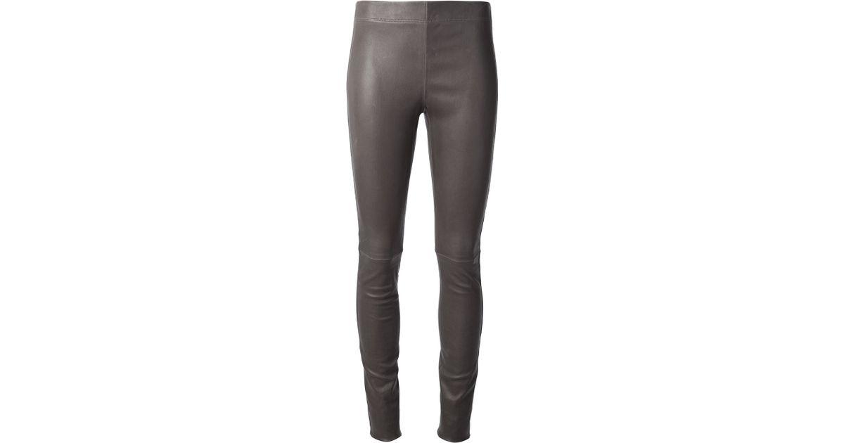 d41df3db53 JOSEPH Leather Legging in Gray - Lyst