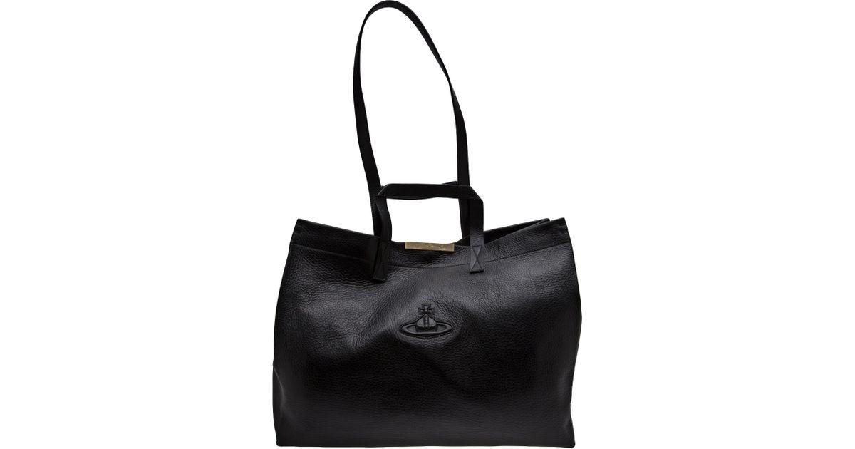52aa808a3cb Vivienne Westwood Large Shopper Bag in Black - Lyst