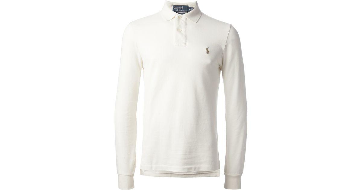 7d418c53d0 Polo Ralph Lauren White Long Sleeve Polo Shirt for men