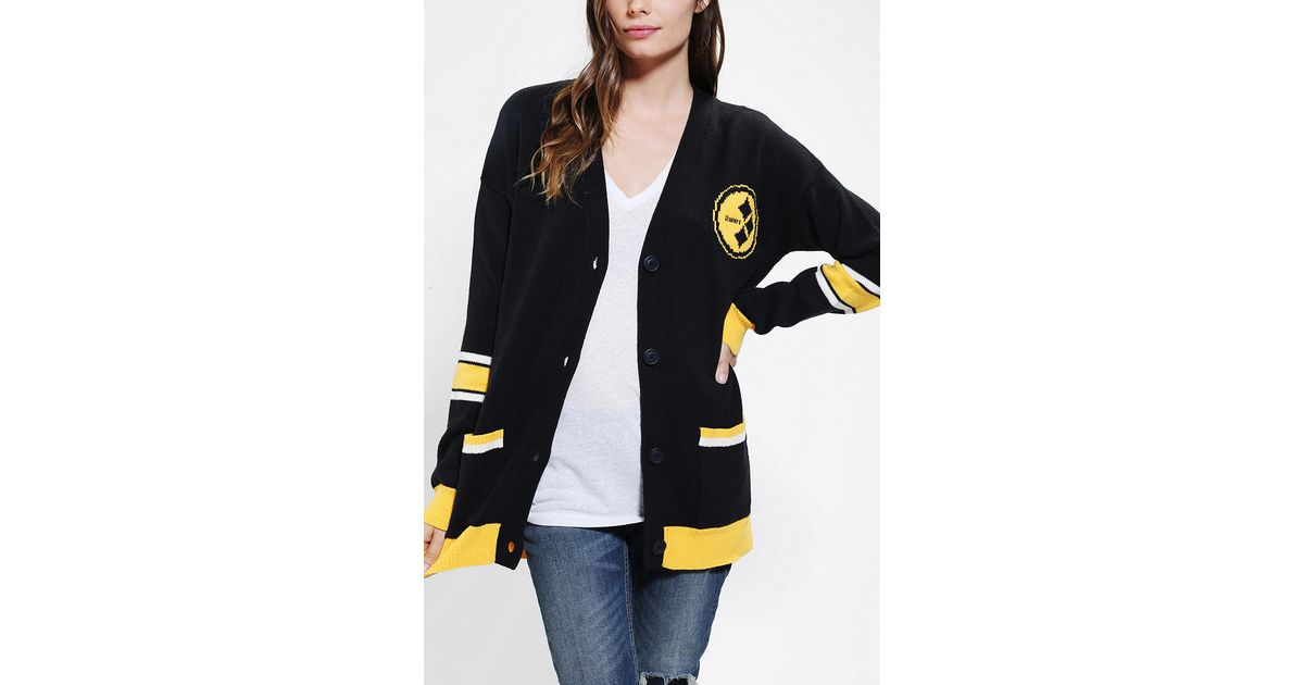 best service 14541 8c910 Urban Outfitters Black Junk Food Steelers Nfl Cardigan