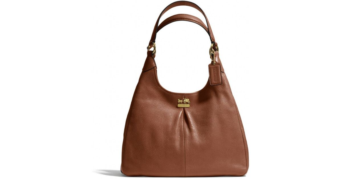 1fd81afc93 Lyst - COACH Madison Maggie Shoulder Bag in Leather in Brown