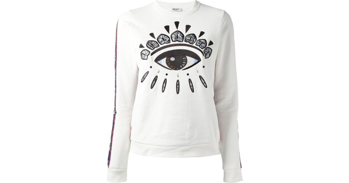 White Eye Sweatshirt Eye White White Eye Kenzo Kenzo Sweatshirt Kenzo Sweatshirt White Kenzo OukZiPXT