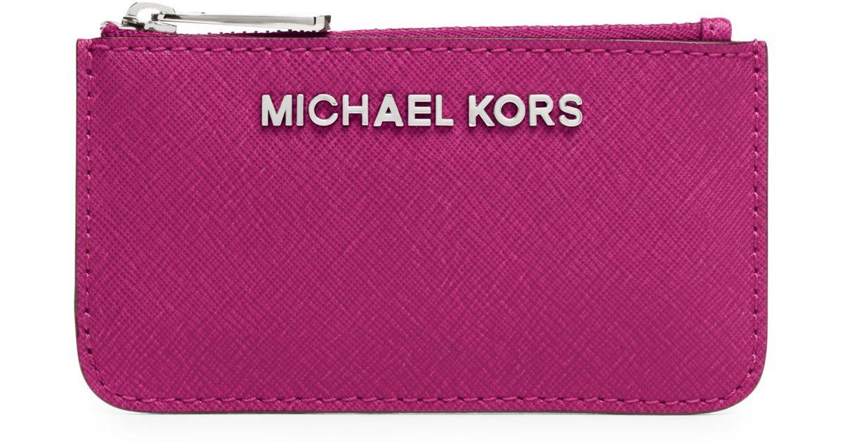 f8f0e0b19260 MICHAEL Michael Kors Jet Set Travel Key Pouch in Pink - Lyst
