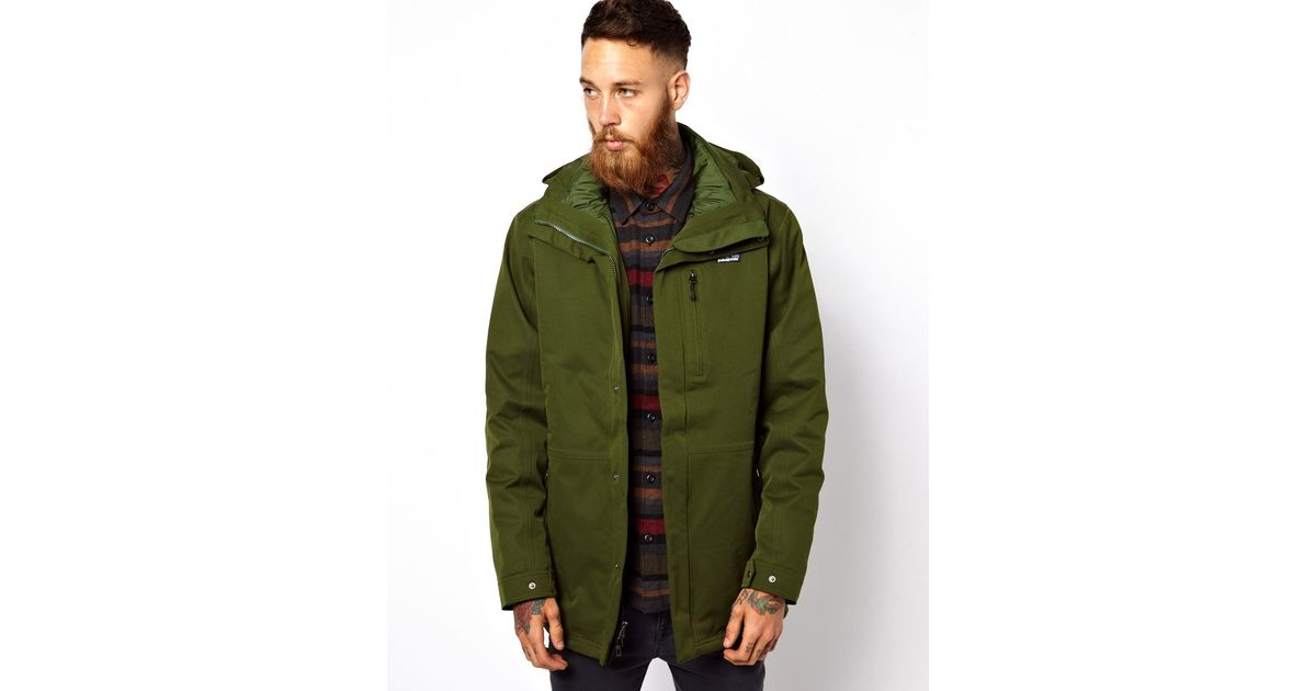 Patagonia Tres 3 in 1 Parka in Green for Men - Lyst