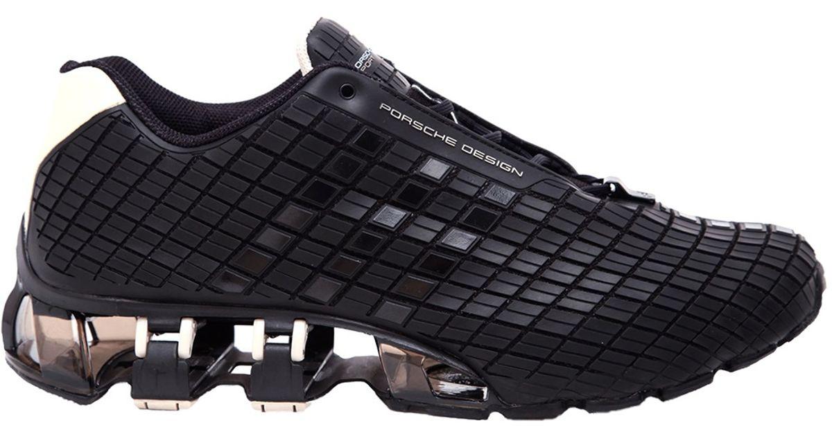 hot sale online 72fc9 a9fd7 Porsche Design Black Bounce Techno Titanium Sneakers for men